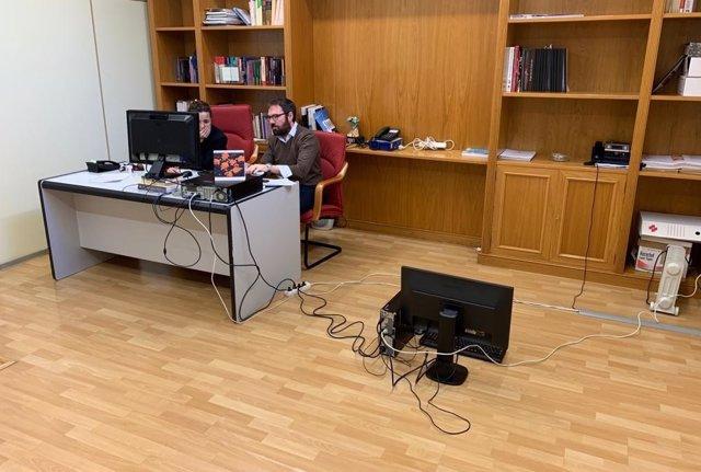 Situación del despacho del PSPV en el Ayuntamiento de Alicante.