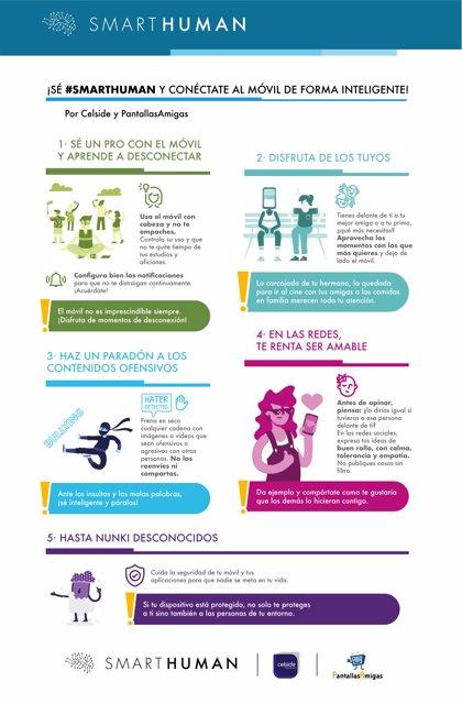 Nace SmartHuman, el movimiento para empoderar a la adolescencia en el uso inteligente del móvil