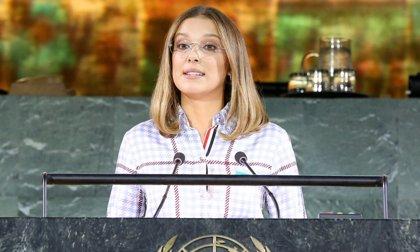 """Poderoso discurso de Millie Bobby Brown contra el bullying en la ONU: """"No estás sola, hay gente a la que nos importas"""""""