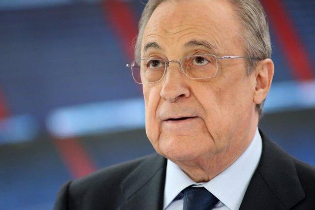 Florentino Pérez presenta Eden Hazard al Santiago Bernabéu