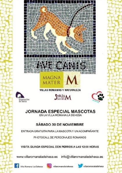 Las visitas a la villa romana de Las Cuevas de Soria será gratuita el día 30 para personas acompañadas por un perro