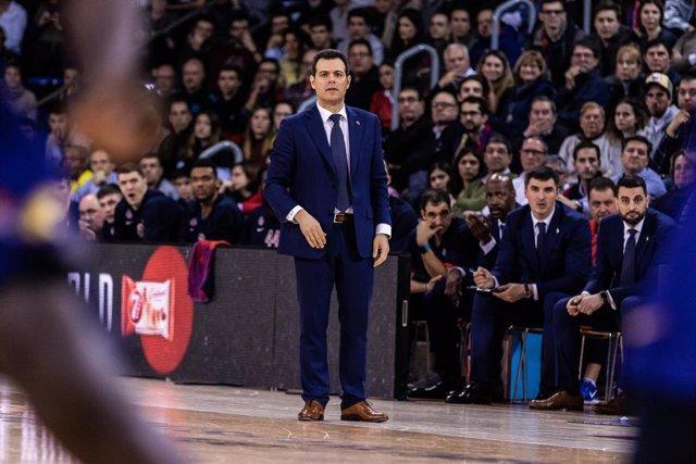Dimitris Itoudis, entrenador del CSKA Moscú.