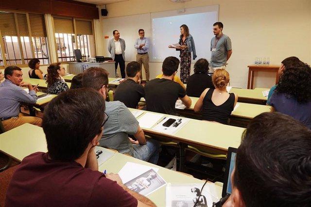 Aula de la Facultad de Filosofía y Letras de la Universidad de Málaga.