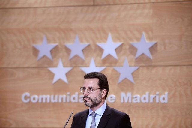 El consejero de Hacienda de la Comunidad de Madrid, Javier Fernandez-Lasquetty