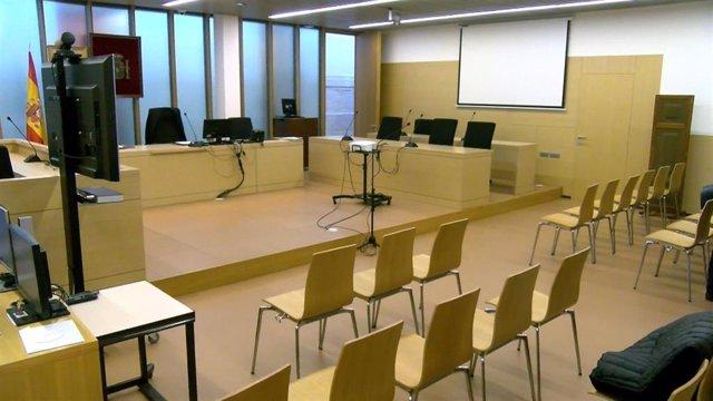 Interior de la sala donde se celebra el juicio.