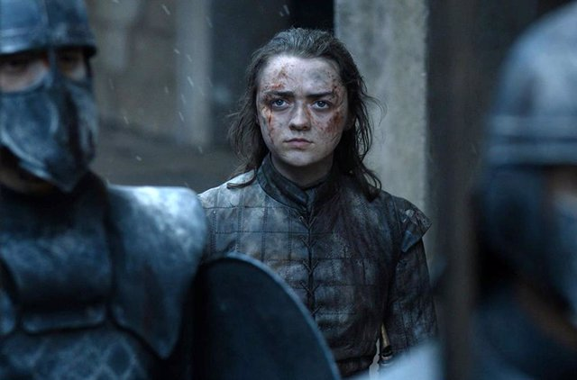 Maisie Williams como Arya en Juego de tronos
