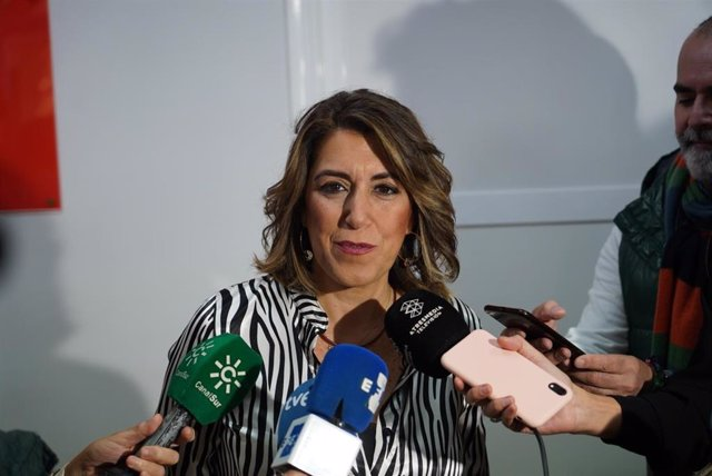 La secretaria general del PSOE de Andalucía, Susana Díaz, este sábado