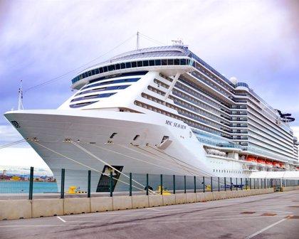El MSC Seaview realiza su primera escala en València antes de poner rumbo a Latinoamérica