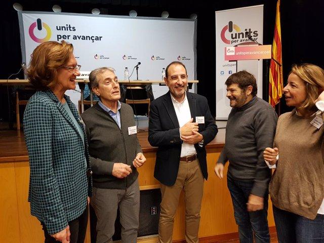 El diputat del PSC-Units Ramon Espadaler i el tinent d'alcalde de Seguretat i Prevenció de Barcelona, Albert Batlle, en el Consell Nacional d'Units per Avanar.