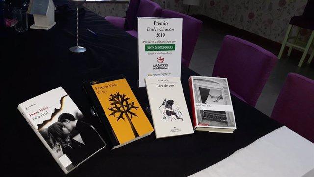 Obras finalistas del premio Dulce Chacón