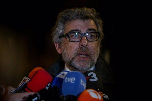 L'advocat de Jordi Sànchez, Jordi Turull i Josep Rull, Jordi Pina.