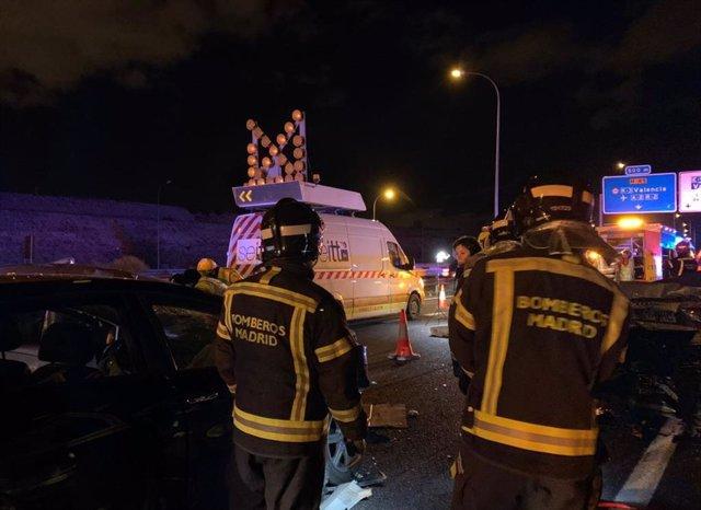 Accidente de tráfico en la M-45