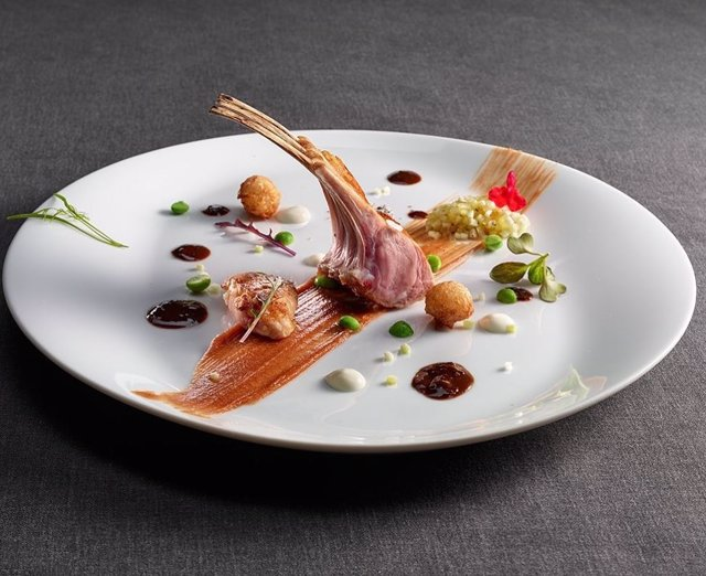 Plato del restaurante con estrella Michelin Martín Berasategui