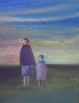 La pintora oscense Pilar Bernad regresa al circuito expositivo con 'Azul'.