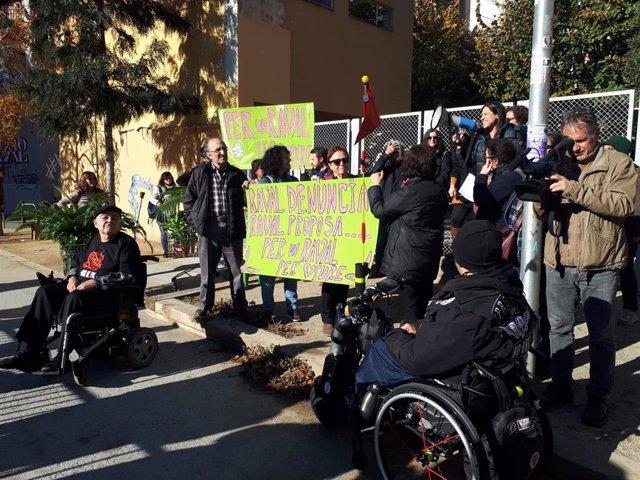 Protesta de vecinos del Raval