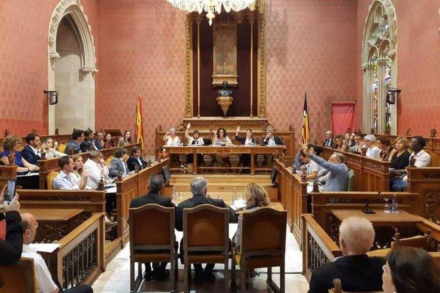 Imagen del pleno del  Consell de Mallorca del 10 de octubre.