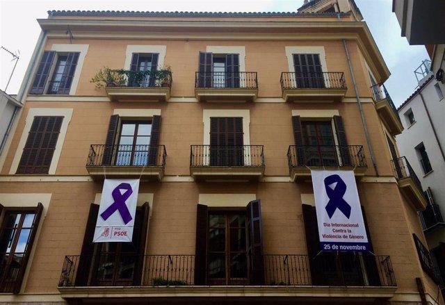 Fachada de la sede del PSIB en Palma.