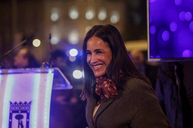 La vicealcaldesa de Madrid, Begoña Villacís, asiste al encendido de las luces de Navidad de Madrid, a 22 de noviembre de 2019.