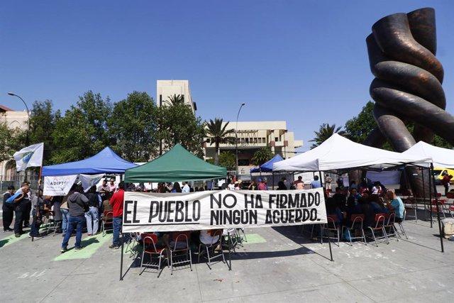 Chile.- Chile se prepara la huelga general del próximo martes con paros progresi