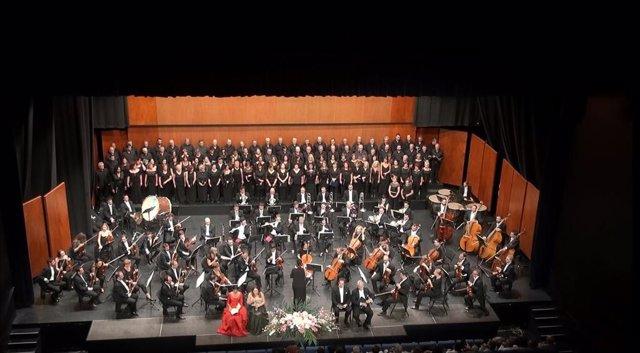 Imagen de un concierto de la Orquesta Sinfónica de la Región de Murcia en un ciclo de Promúsica Águilas
