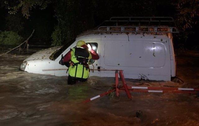 Inundaciones en la prefectura del Var, en Francia