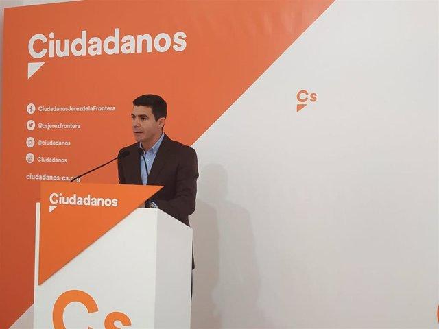 El portavoz de Ciudadanos (Cs) en el Parlamento de Andalucía, Sergio Romero, este domingo