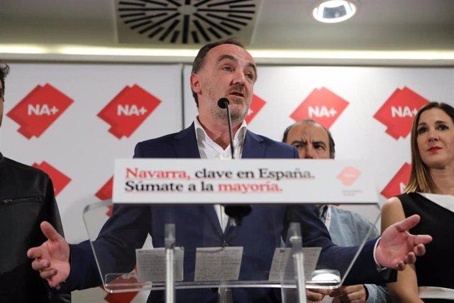 El presidente de UPN y portavoz de Navarra Suma, Javier Esparza