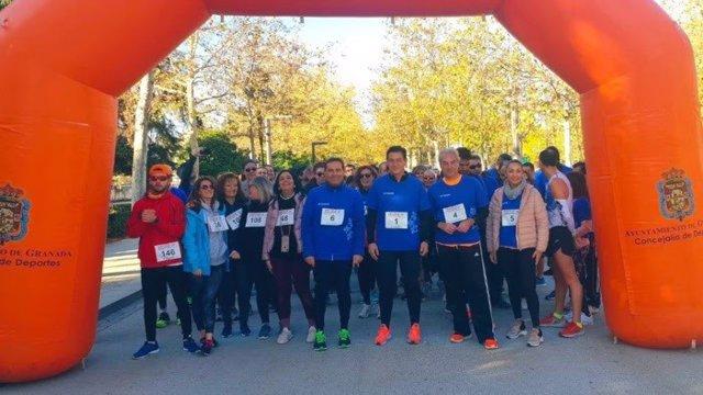 """Participantes de la I Marcha por la Salud Vascular """"Circula Granada"""""""