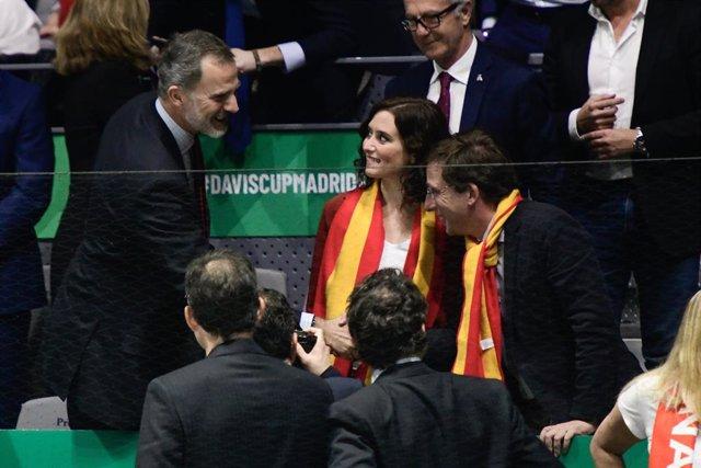 AMP.- Díaz Ayuso asiste a la final de la Copa Davis presidida por S.M. el Rey Do