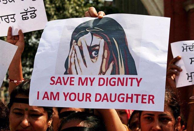 Protestas contra las violaciones en India