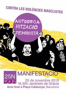 Cartell de la manifestació contra les violències masclistes que ha convocat Novembre Feminista a Barcelona el 25N