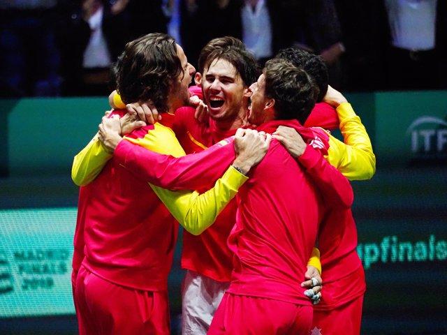 Final de la Copa Davis 2019, Espanya-Canadà a Madrid, 24 de novembre del 2019. - Foto Arturo Baldasano / DPPI