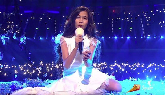 Melani en la final de Eurovisión Junior