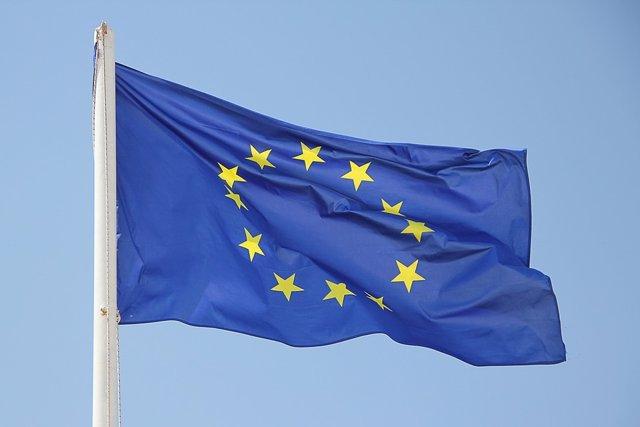 Bandera de la Unió Europea, Comissió Europea, UE, Brussel·les.