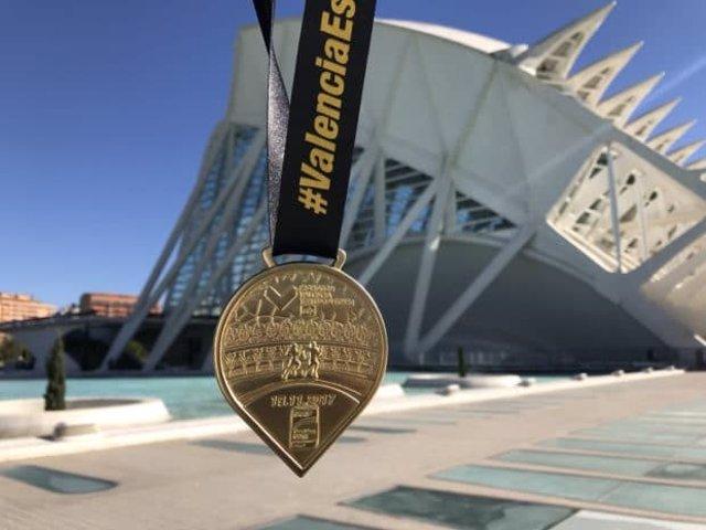 Medalla del Maratón de Valencia 2017