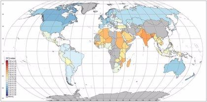 Un mapa califica la sostenibilidad de sistemas alimentarios, país a  país