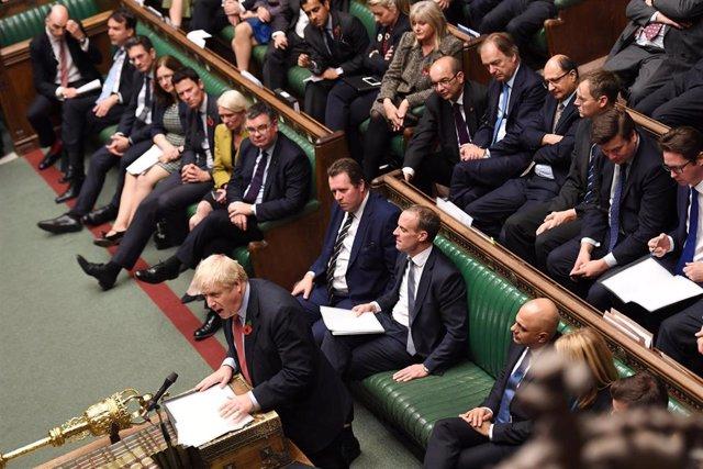 Boris Johnson habla en la Cámara de los Comunes