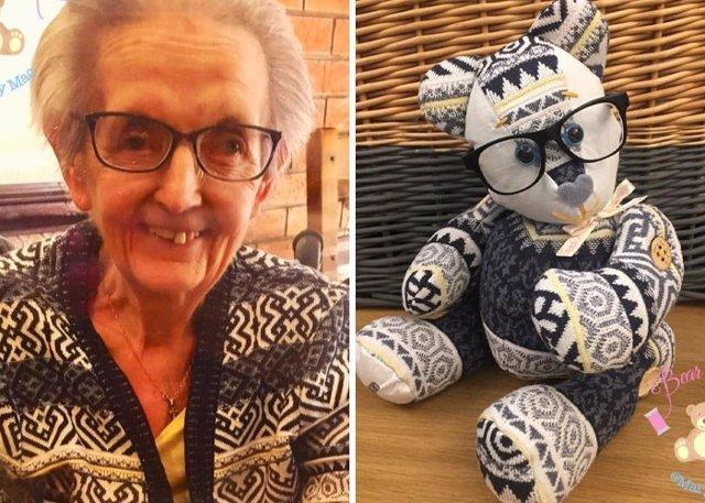 Esta mujer transforma la ropa de un ser querido que se fue por osos del recuerdo