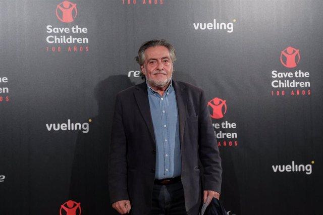 El portavoz socialista en el Ayuntamiento de Madrid, Pepu Hernández, en el photocall de la gala de entrega de los premios por el centenario de Save the Children, en Madrid a 12 de noviembre de 2019.