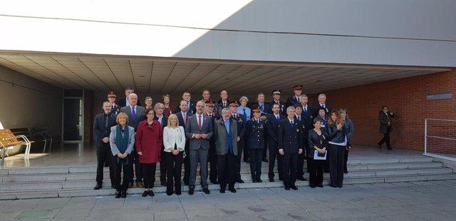 El conseller Miquel Buch inaugura l'any acadèmic a l'Institut de Seguretat Pública de Catalunya (ISPC).