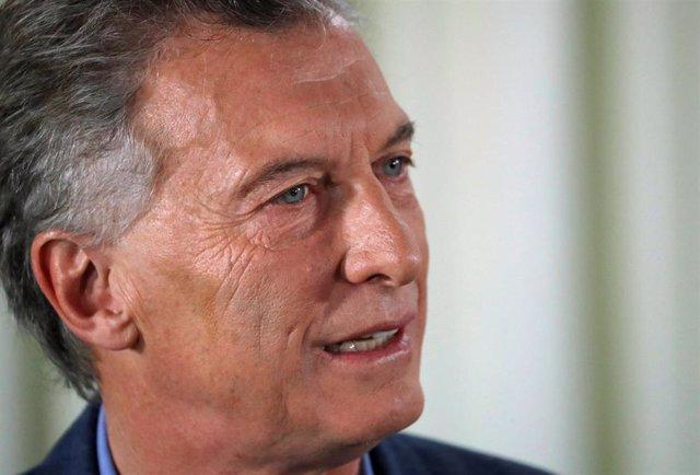 El presidente saliente de Argentina, Mauricio Macri