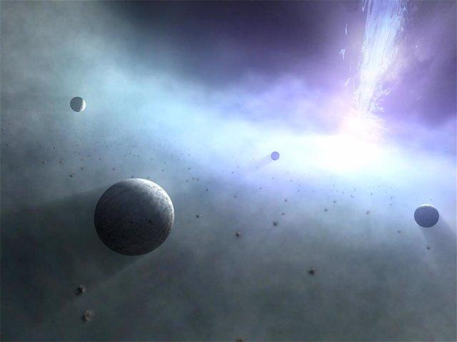Planetas alrededor de un agujero negro