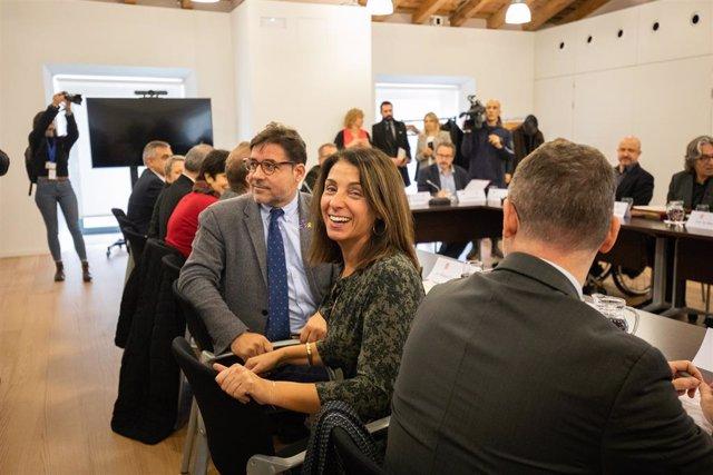 La consellera de la Presidència i portaveu del Govern, Meritxell Budó, durant la Comissió mixta entre la Generalitat i l'Ajuntament de Barcelona (Catalunya, Espanya), 25 de novembre del 2019.