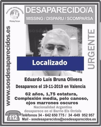 Localizado el hombre de 62 años que había desaparecido en València desde el martes