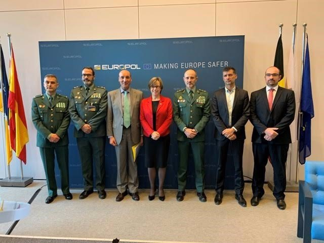 Representantes de la Guardia Civil en la actividad conjunta de Europol contra la propaganda online de grupos terroristas de corte yihadista