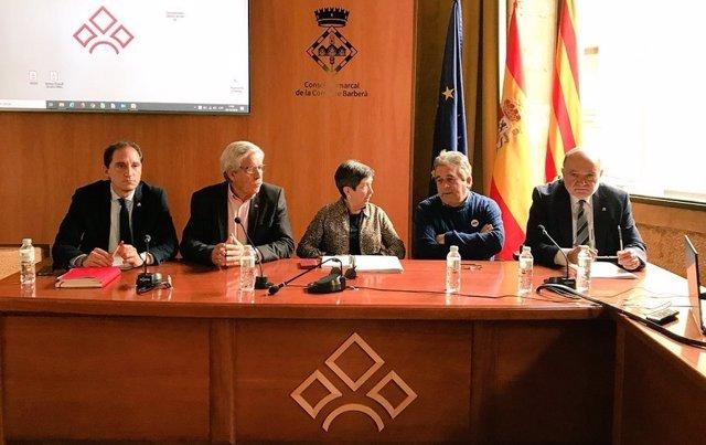 Reunió de la Delegada del Govern amb alcaldes de municipis afectats pel temporal.
