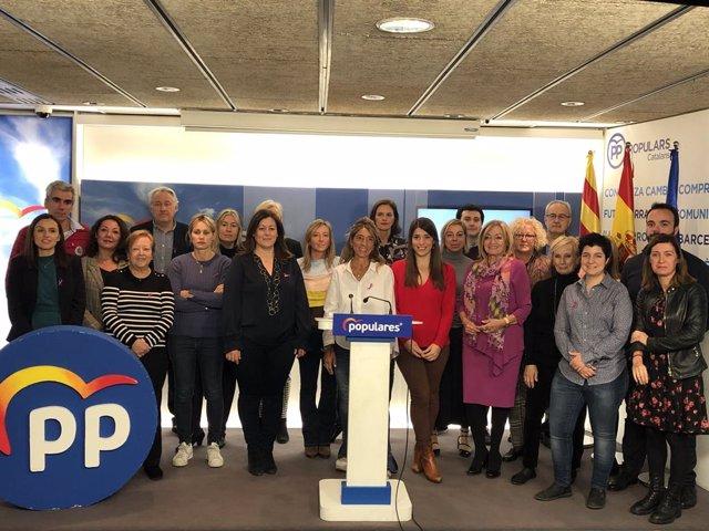 Lectura del manifest del PP català pel Dia internacional per a l'eliminació de la violència contra la dona.