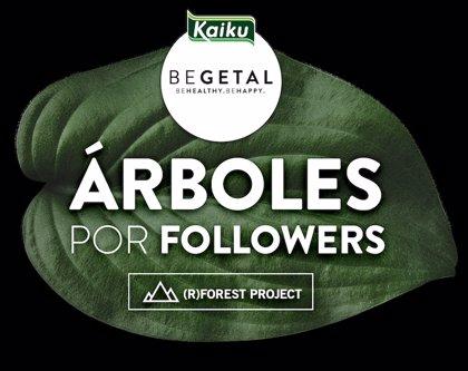 Kaiku Begetal prevé reforestar 10.000m2 de bosque gracias a sus seguidores en redes sociales