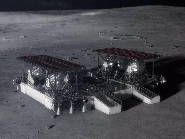 Aterrizador lunar para vehículos diseñado por la NASA