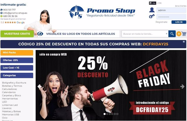 Sitio web Promo-shop